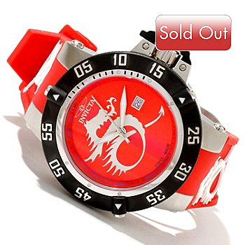 618-807 - Invicta Men's Subaqua Noma III Dragon Swiss Made Quartz Stainless Steel Silicone Strap Watch