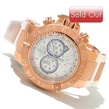 618-818 - Invicta Men's Subaqua Noma III Swiss Quartz Chronograph Stainless Steel Case Silicone Strap Watch
