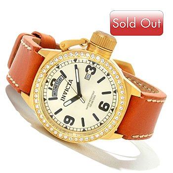 618-822 - Invicta Women's Corduba Crystal Quartz Leather Strap Watch