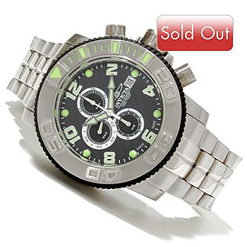 618-876 - Invicta Men's Sea Hunter Swiss ETA A07.211 Carbon Fiber Dial Stainless Steel Bracelet Watch