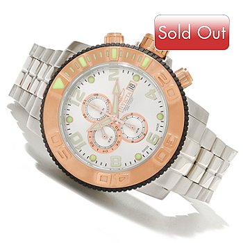 618-877 - Invicta Men's Sea Hunter Swiss Made Automatic Chronograph Stainless Steel Bracelet Watch