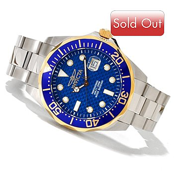 618-897 - Invicta Men's Grand Diver Quartz Stainless Steel Bracelet Watch w/ 8-Slot Dive Case