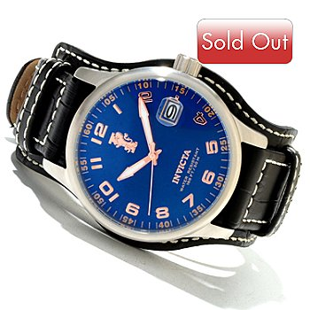 618-995 - Invicta Men's I Force Quartz Stainless Steel Leather Strap Watch