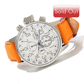 619-000 - Invicta Men's I Force Rifle Quartz Chronograph Leather Strap Watch w/ 3-Slot Dive Case