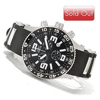 619-002 - Invicta Men's Specialty Diver Quartz Chronograph Stainless Steel Silicone Strap Watch