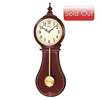 619-010 - Seiko Classic Swinging Pendulum Wooden Wall Clock
