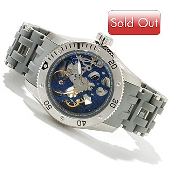 619-023 - Invicta Men's Sea Spider Mechanical Bracelet Watch w/ 3-Slot Dive Case