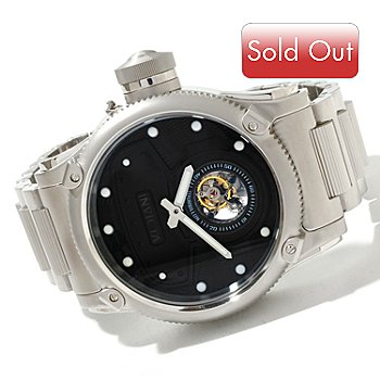 619-111 - Invicta Men's Russian Diver Tourbillon Limited Edition Mechanical Diver Helmet Dial Bracelet Watch