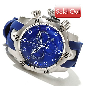 619-152 - Invicta Reserve Men's Venom Swiss Made Quartz Chronograph Strap Watch w/ 8-Slot Dive Case