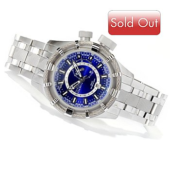 619-155 - Invicta Reserve Men's Bolt Quartz GMT Stainless Steel Bracelet Watch w/ 3-Slot Dive Case