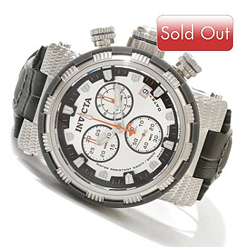 619-210 - Invicta Reserve Men's Capsule Swiss Made Quartz Leather Strap Watch w/ 3-Slot Dive Case
