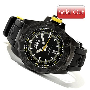 619-221 - Invicta Men's Pro Diver Ocean Baron Quartz Polyurethane Strap Watch w/ 3-Slot Dive Case
