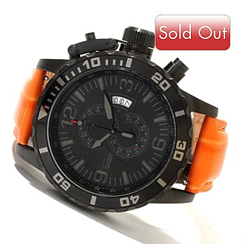 619-363 - Invicta Men's Corduba Ibiza Quartz Chronograph Alligator Strap Watch