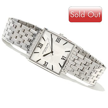 619-369 - Stührling Original Men's or Women's Saratoga Elite Quartz Stainless Steel Bracelet Watch