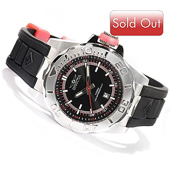619-376 - Invicta Men's Pro Diver Ocean Baron Quartz Polyurethane Strap Watch w/ 3-Slot Dive Case
