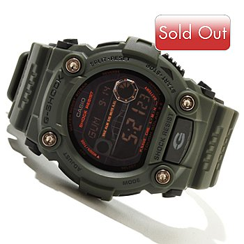619-434 - Casio Men's G-Shock Military 7900 Series Tide Graph Solar Powered Rubber Strap Watch