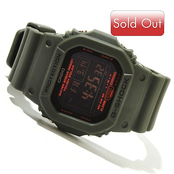 619-436 - Casio Men's G-Shock Military 5600 Series Solar Powered Rubber Strap Watch