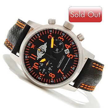 619-444 - Moscow-Classic Men's Sturmovic Limited Edition Mechanical Chronograph Leather Strap Watch