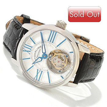 619-481 - Stührling Original Men's Viceroy Limited Edition Mechanical Tourbillon Crocodile Strap Watch