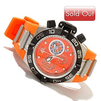 619-488 - Invicta Mid-size Subaqua Noma IV Swiss Made Quartz Chronograph Polyurethane Strap Watch