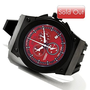 619-490 - Invicta Reserve Men's Akula Swiss Quartz Chronograph Silicone Strap Watch w/ 3-Slot Dive Case