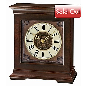 619-637 - Seiko Westminster Whittington Ornamental Dial Desk Clock