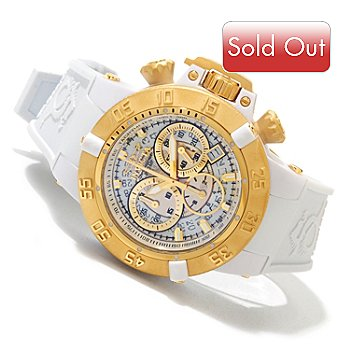 619-657 - Invicta Women's Subaqua Noma III Quartz Chronograph Silicone Strap Watch w/ 3-slot Dive Case