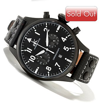 619-775 - Adee Kaye Men's Captain Quartz Chronograph Stainless Steel Strap Watch