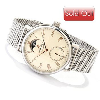 619-790 - Adee Kaye Men's Automatic Stainless Steel Mesh Bracelet Watch