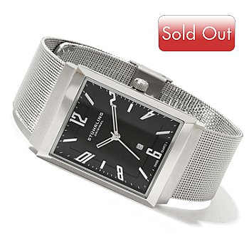 619-801 - Stührling Original Men's Prospect Quartz Stainless Steel Mesh Bracelet Watch