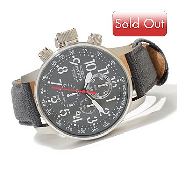 619-813 - Invicta Men's I Force Quartz Chronograph Rifle Leather Strap Watch w/ 3-Slot Dive Case