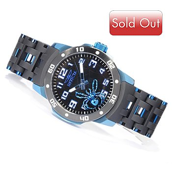 619-913 - Invicta Men's Sea Spider Quartz Stainless Steel & Polyurethane Bracelet Watch