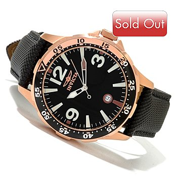 619-926 - Invicta Men's Specialty Ocean Diver Quartz Leather Strap Watch w/ 8-Slot Dive Case
