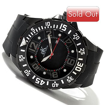 619-999 - Adee Kaye Men's Grand Mond Quartz Rubber Strap Watch