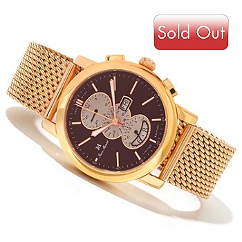 620-018 - Jean Marcel Men's Clarus Limited Edition Swiss Made Automatic Chronograph Bracelet Watch