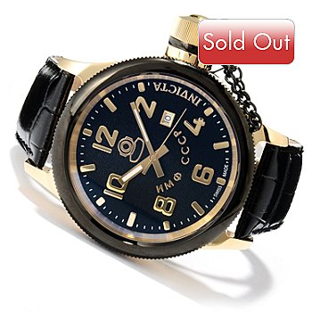 620-062 - Invicta Men's Russian Diver Quartz Stainless Steel Leather Strap Watch