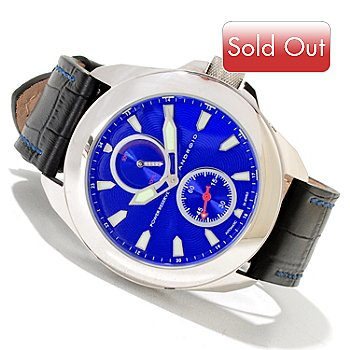 620-080 - Android Men's Velocity Automatic Leather Strap Watch
