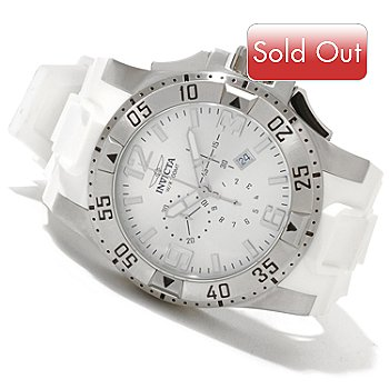 620-083 - Invicta Men's Excursion Quartz Chronograph Stainless Steel Polyurethane Strap Watch