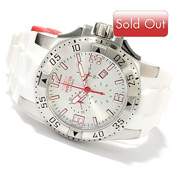 620-122 - Invicta Men's Excursion Quartz Chronograph Stainless Steel Polyurethane Strap Watch
