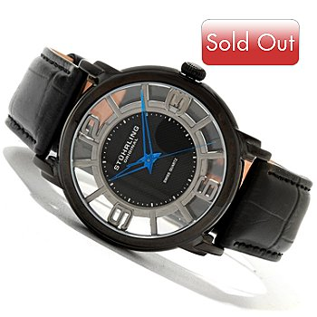 620-131 - Stührling Original Men's Winchester Quartz Leather Strap Watch