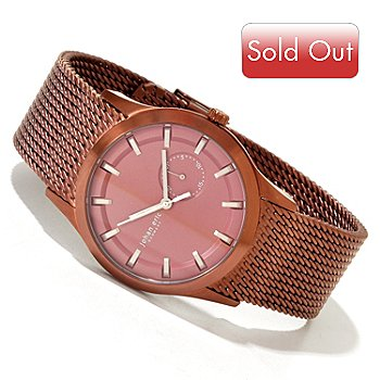 620-151 - Johan Eric Men's Agerso Quartz Stainless Steel Mesh Bracelet Watch