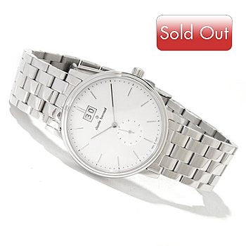 620-175 - Claude Bernard Men's Classic Swiss Made Quartz Stainless Steel Bracelet Watch