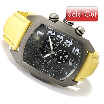 620-261 - Invicta Men's Lupah Quartz Chronograph Titanium Leather Strap Watch