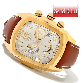 620-279 - Invicta Men's Dragon Lupah Quartz Chronograph Stainless Steel Leather Strap Watch