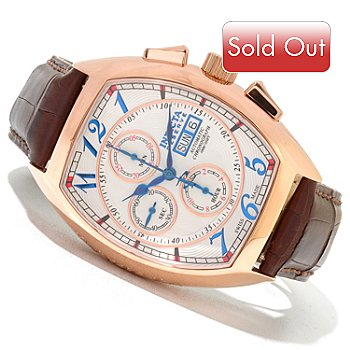 620-350 - Invicta Reserve Men's Specialty Valjoux 7750 Automatic Stainless Steel Leather Strap Watch