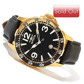 620-399 - Invicta Men's Specialty Diver Quartz Stainless Steel Leather Strap Watch w/ 3-Slot Dive Case