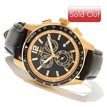 620-403 - Invicta Men's Specialty Diver Quartz Chronograph Leather Strap Watch w/ 3-Slot Collector's Case