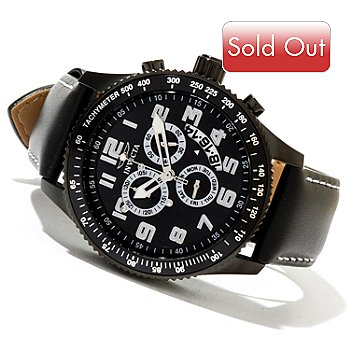 620-404 - Invicta Men's Specialty Quartz Chronograph Genuine Leather Strap Watch w/ Collector's Box