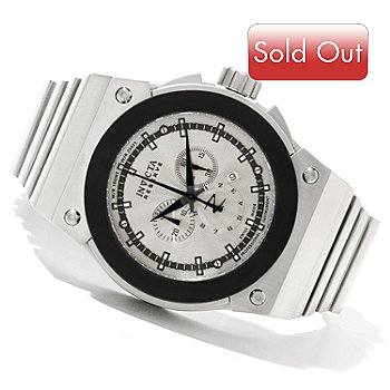 620-410 - Invicta Reserve Men's Akula Swiss Made Quartz Chronograph Stainless Steel Bracelet Watch