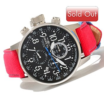620-421 - Invicta Men's I Force Quartz Chronograph Rifle Leather Strap Watch w/ 3-Slot Collector's Box